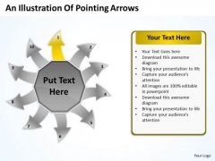 An Illustration Of Pointing Arrows Network Software PowerPoint Template