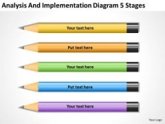 Analysis And Implementation Diagram 5 Stages Business Plan PowerPoint Templates