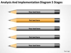 Analysis And Implementation Diagram 5 Stages Strategic Plan PowerPoint Templates