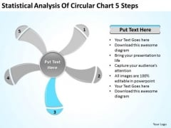 Analysis Of Circular Chart 5 Steps Ppt Business Plans For PowerPoint Slides