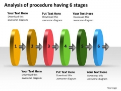 Analysis Of Procedure Having 6 Stages Function Flow Chart PowerPoint Slides