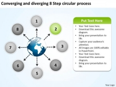 And Diverging 8 Step Circular Process Relative Cycle Arrow PowerPoint Templates