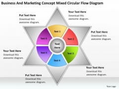 And Marketing Concept Mixed Circular Flow Diagram What Is Business Plan PowerPoint Templates