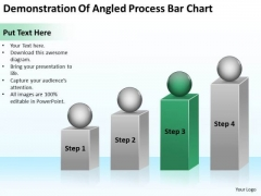 Angled Process Bar Chart Ppt Business Plan For Dummies PowerPoint Slides