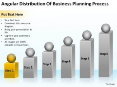 Angular Distribution Of Business Planning Process Ppt Action PowerPoint Slides