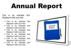 Annual Report Business PowerPoint Presentation Slides F