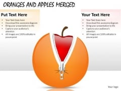 Apple Disguised As Orange PowerPoint Slides And Ppt Diagram Templates