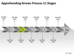 Apprehending Arrows Process 11 Stages Busines Flow Chart Creator Online PowerPoint Slides