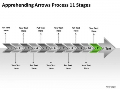 Apprehending Arrows Process 11 Stages Ppt Creating Flowchart PowerPoint Templates