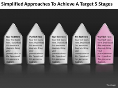 Approaches To Achieve Target 5 Stages Ppt Business Plan For Dummies PowerPoint Templates