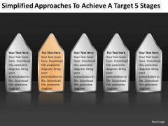 Approaches To Achieve Target 5 Stages Ppt Startup Business Plans PowerPoint Templates