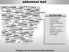 Arkansas PowerPoint Maps