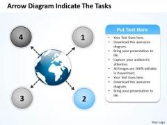 Arrow Diagram Indicate The Tasks Circular Flow Layout Process PowerPoint Slide