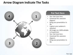 Arrow Diagram Indicate The Tasks Ppt Charts And PowerPoint Templates