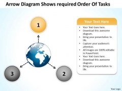 Arrow Diagram Shows Required Order Of Tasks Arrows Process Software PowerPoint Templates