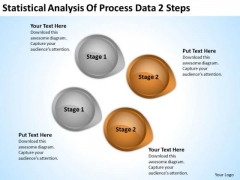 Arrow In PowerPoint Statistical Analysis Of Process Data 2 Steps Ppt Slide