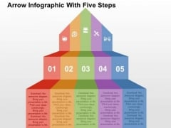 Arrow Infographic With Five Steps PowerPoint Templates