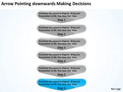 Arrow Pointing Downwards Making Decisions Flowchart PowerPoint Freeware Slides