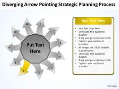 Arrow Pointing Strategic Planning Process Arrow Circular Diagram PowerPoint Templates