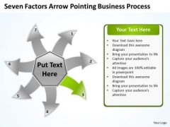 Arrow Pointing World Business PowerPoint Templates Process Arroow Radial Diagram Slides