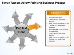 Arrow Pointing World Business PowerPoint Templates Process Arrow Radial Diagram Slides