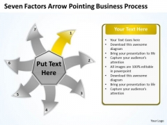 Arrow Pointing World Business PowerPoint Templates Process Radial Diagram Slide