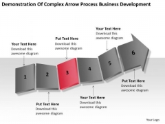 Arrow Process Business Development Ppt Examples Of Plan Outline PowerPoint Templates