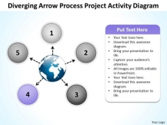 Arrow Process Project Activity Diagram Circular Flow Motion PowerPoint Template