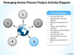 Arrow Process Project Activity Diagram Circular Flow Motion PowerPoint Templates