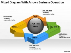 Arrows Business Operation Ppt Small Plan Template PowerPoint Slides