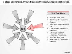 Arrows Business Process Management Solution Cicular Cycle PowerPoint Slides