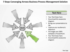 Arrows Business Process Management Solution Cycle PowerPoint Slides
