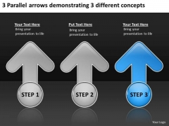 Arrows Demonstrating Different Concepts Ppt Consignment Business Plan PowerPoint Templates