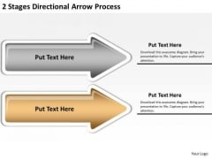 Arrows For PowerPoint Free 2 Stages Directional Process Ppt Templates