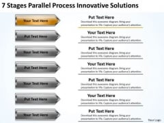 Arrows For PowerPoint Free 7 Stages Parallel Process Innovative Solutions Slides