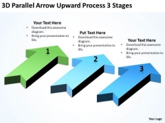 Arrows For Ppt Upward Process 3 Stages PowerPoint Templates Backgrounds Slides