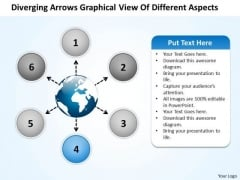 Arrows Graphical View Of Different Aspects Arrow Charts And Diagrams PowerPoint Templates