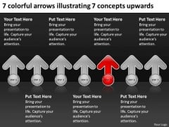 Arrows Illustrating Concepts Upwards How To Write Out Business Plan PowerPoint Slides