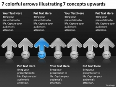 Arrows Illustrating Concepts Upwards Record Label Business Plan PowerPoint Templates