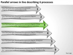Arrows In Line Describing 6 Processes Import Export Business Plan PowerPoint Templates