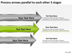 Arrows Parallel To Each Other 3 Stages Executive Summary Business Plan PowerPoint Templates