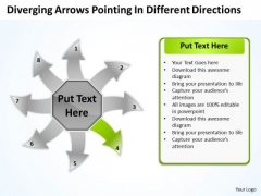 Arrows Pointing Different Directions Cycle Circular Flow Process Chart PowerPoint Slides