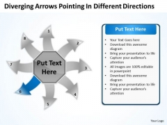 Arrows Pointing Different Directions Ppt Circular Flow Process Chart PowerPoint Slides