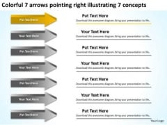 Arrows Pointing Right Illustrating Concepts Business Succession Planning PowerPoint Slides