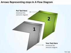 Arrows Representing Steps Flow Diagram Po Process Chart PowerPoint Templates
