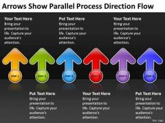 Arrows Show Parallel Process Direction Flow Business Plan Preparation PowerPoint Slides