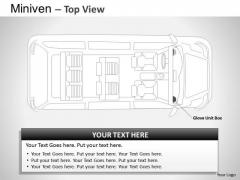 Art Blue Minivan Top View PowerPoint Slides And Ppt Diagram Templates