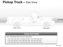 Art Pickup Brown Truck Side View PowerPoint Slides And Ppt Diagram Templates