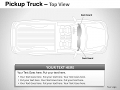 Art Pickup Brown Truck Top View PowerPoint Slides And Ppt Diagram Templates