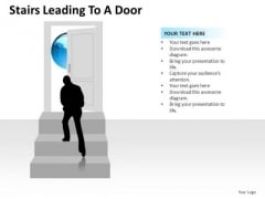 Ascent Stairs Leading To A Door PowerPoint Slides And Ppt Diagram Templates